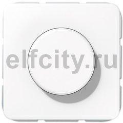 Диммер (светорегулятор) поворотный 20-525 Вт для ламп накаливания и галогенных 220В, белый