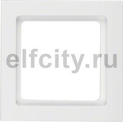 Рамка 1 пост, полярная белизна, с эффектом бархата
