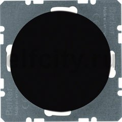 Центральная панель для вывода кабеля, R.classic, цвет: черный, глянцевый