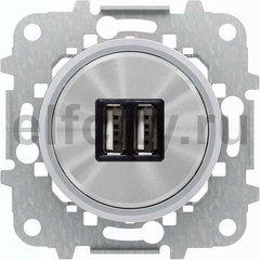 Зарядное USB устройство на два выхода, 2х750 мА / 1х1500 мА, хром