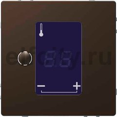 Термостат сенсорный 230 В~ 8А с выносным датчиком, для электрического подогрева пола, мокко