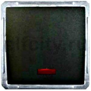 W59 1-клавишный ПЕРЕКЛЮЧАТЕЛЬ перекрестный с подсветкой,16АХ,механизм,ЧЕР.БАРХАТ
