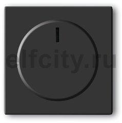 Плата центральная (накладка) с ручкой и лампой для поворотного светорегулятора, серия solo/future, цвет антрацит