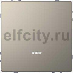 Выключатель одноклавишный с подсветкой, проходной (вкл/выкл с 2-х мест) 10 А / 250 В, никель
