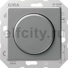 Диммер (светорегулятор) поворотный 60-600 Вт для ламп накаливания и галогенных 220B, нержавеющая сталь