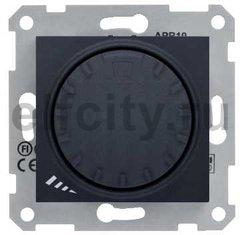 Диммер (светорегулятор) поворотный 40-1000 Вт для ламп накаливания и галогенных 220В, графит