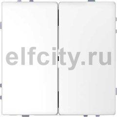 Выключатель двухклавишный, 10 А / 250 В, белый лотос