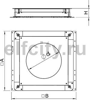 Монтажное основание UZD350-3 (h=70-125 мм) для GESR7 510x467x70 мм (сталь)