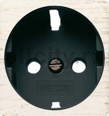 Обрамление розетки 2к+з, цвет white decape, черный