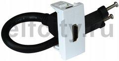 Розетка HDMI на один модуль, белый