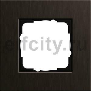 Рамка 1 пост, алюминий коричневый