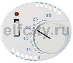 Накладка для терморегулятора 8140.1, серия TACTO, цвет альпийский белый