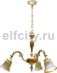 Люстра - Milazzo I, цвет: золото, белая патина