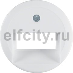 Центральная панель для UAE/E-DAT Design/Telekom розетка ISDN цвет: полярная белизна, с блеском серия 1930/Glasserie/Palazzo