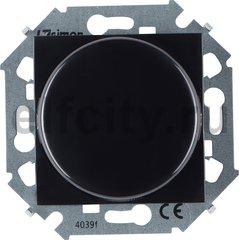 Диммер (светорегулятор) поворотно-нажимной 40-500 Вт для ламп накаливания и галогенных 220В, черный