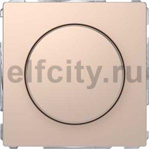 Диммер (светорегулятор) поворотно-нажимной 60-400 Вт для ламп накаливания и галогенных 220В, шампань