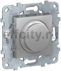 Диммер (светорегулятор) LED, поворотно-нажимной 7-200 Вт, для светодиодных ламп и других типов, универсальный, 220В, алюминий