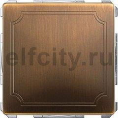 Диммер (светорегулятор) клавишный универсальный 25-420 Вт для ламп накаливания и низковольтных галогенных ламп, античная латунь