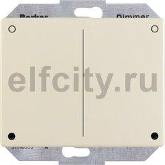 Диммер (светорегулятор) нажимной 20-500 Вт для ламп накаливания и галогенных 220В, пластик кремовый (белый с блеском)