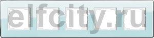 Рамка 5 постов, для горизонтального/вертикального монтажа, стекло салатовое Glass C