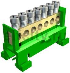 Клемма защитного провода желто-зеленая 7x16mm2