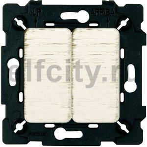 Выключатель двухклавишный, проходной (вкл/выкл с 2-х мест) 10 А / 250 В, white decape