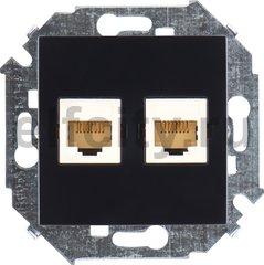 Розетка компьютерная двойная RJ45 UTP, 5-й кат, черный