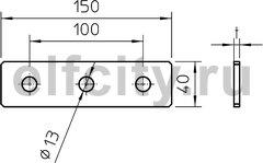 Соединительная пластина 150x40x5