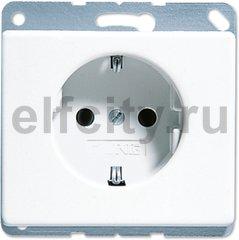 Розетка с заземляющими контактами 16 А / 250 В, пластик белый глянцевый