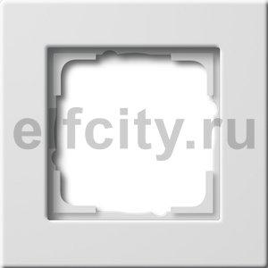Рамка 1 пост, пластик белый глянцевый
