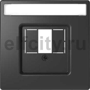 D-Life ЦЕНТРАЛЬНАЯ НАКЛАДКА для TAE/Audio/USB, АНТРАЦИТ , SD