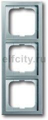 Рамка 3 поста, для горизонтального/вертикального монтажа, нержавеющая сталь