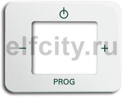 Плата центральная (накладка) для механизма цифрого FM-радио 8215 U, серия alpha nea, цвет белый глянцевый