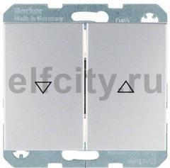 Выключатель управление жалюзи, клавишный, 10 А / 250 В, алюминий