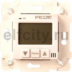 Термостат для электрического подогрева пола 230 В~ 16А , с датчиком температуры пола, бежевый