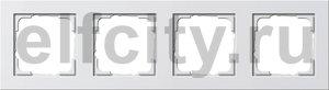 Рамка 4 поста, для горизонтального/вертикального монтажа, пластик белый матовый