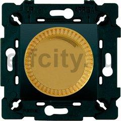 Диммер (светорегулятор) поворотный 40-500 Вт для ламп накаливания и галогенных 220В, красное золото/черный
