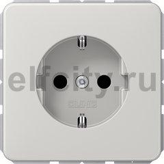 Розетка с заземляющими контактами 16 А / 250 В, автоматические зажимы, светло-серый