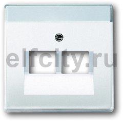 Плата центральная (накладка) для 2-постовой телекоммуникационной розетки 0214, 0215, 0217, 0218, с полем для надписи, серия solo/future, цвет davos/альпийский белый