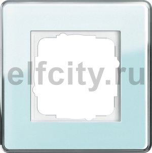 Рамка 1 пост, стекло салатовое Glass C
