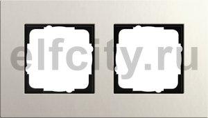 Рамка 2 поста, для горизонтального/вертикального монтажа, светло-серый