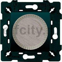 Диммер (светорегулятор) поворотный 40-500 Вт для ламп накаливания и галогенных 220В, никель/черный