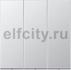 Выключатель, переключатель 3-х клавишний, (вкл/выкл с 1-го и 2-х мест) 10 А / 250 В, алюминий