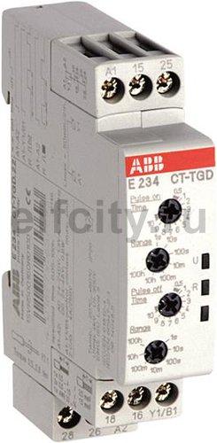 Реле времени CT-TGD.22 модульное (генератор импульсов) 24-48B DC, 24- 240B AC (7 временных диапазонов 0,05с...100ч) 2ПК