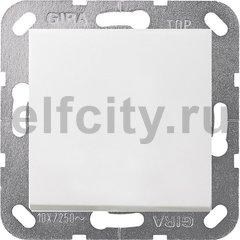 Выключатель одноклавишный перекрестный (вкл/выкл с 3-х мест) 10 А / 250 В, пластик белый матовый