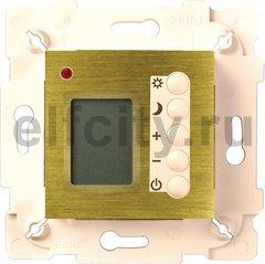 Термостат для электрического подогрева пола 230 В~ 16А , с датчиком температуры воздуха и пола, бронза светлая/бежевый