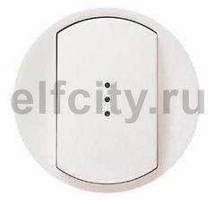 Legrand Celiane лицевая панель для одноклавишного выключателя-переключателя с подсветкой, цвет белый