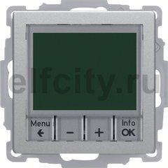 Регулятор температуры, с центральной панелью, Q.1/Q.3, цвет: алюминиевый, бархатный лак