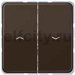 Выключатель управления жалюзи кнопочный, 10 А / 250 В, коричневый