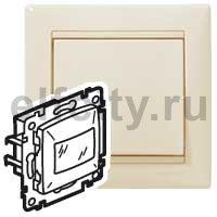 Автоматический выключатель 230 В~ , 60-300Вт, с задержкой отключения 6с-6минут, пластик кремовый глянцевый